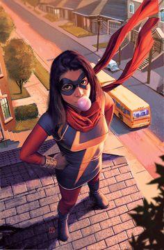 Kamala Khan as the new Ms. Marvel