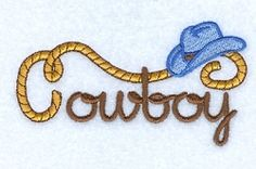 Cowboy Hat Script - 4x4 | Words and Phrases | Machine Embroidery Designs | SWAKembroidery.com Starbird Stock Designs