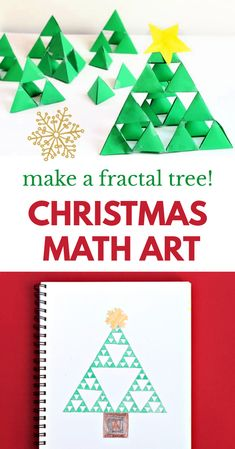 Make this amazing fractal tree in 3D or in 2D as a fun Christmas math or art project. Great for classroom project or at home. Christmas Tree Art, Christmas Arts And Crafts, Christmas Math, Christmas Activities For Kids, Merry Christmas To All, Craft Activities For Kids, Christmas Decorations To Make, Math Activities, Crafts For Kids
