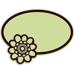 Silhouette Design Store - View Design #7632: 1-flower oval
