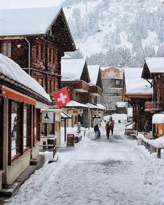 The town of Murren, Switzerland | Winter Vacation Destinations, Europe Travel