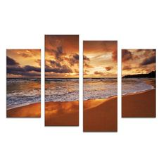 4PCS beach sundown the best selling Wall painting print on canvas for home decor ideas paints on wall pictures art No framed #walldecor #interiordesigner #homedecor #wallartprints #artdecor #artprint #canvasphotoprints #wallartdecor #wallpainting