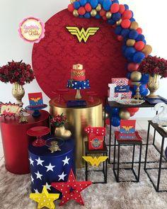 Mermaid Theme Birthday, Pirate Birthday, 15th Birthday, Boy Birthday, Wonder Woman Cake, Wonder Woman Birthday, Wonder Woman Party, Anniversaire Wonder Woman, Hulk Birthday Parties