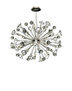 Worldwide Lighting Starburst Chandelier, Chrome