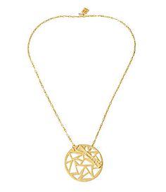 Robert Lee Morris Geometric CutOut Circle Reversible Pendant Necklace #Dillards