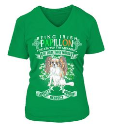 Saint Patrick Jour Être Irlandais Papillon Chien   Funny Papillion T-shirt, Best Papillion T-shirt