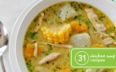 31 Healthy Chicken Soup Recipes. This is convenient, one for every day of the month (+)