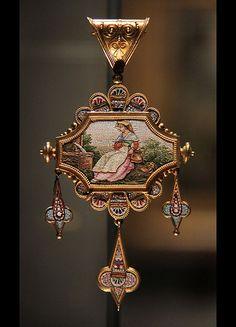 Mosaic Pendant, Roma, about 1870 #TuscanyAgriturismoGiratola