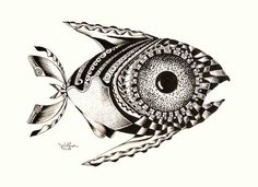 A tale concerning the finitude of a fantabulously finicky French fish . a tale concerning the finitude of a fantabulously finicky French fish . Sea Life Art, Tangle Art, Fish Patterns, Inspirational Artwork, Weird Art, Fish Art, Art Lesson Plans, Pictures To Draw, Art Sketchbook