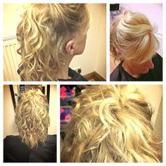Curly Blonde Up Do created with Wahl Curling Wand