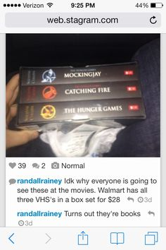 Hunger Games on VHS!