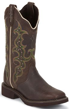 Look at this Justin Boots Copper Kettle Cow Leather Cowboy Boot on today! Cowboy Boots Women, Western Boots, Justin Boots, Brown Boots, Cow Leather, Shoe Boots, Kettle, My Style, Heels