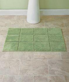 "Nonskid Microfiber Plush Bath Rugs SAGE 20"" x 30"" Bathroom Decor"