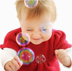 sweet baby and bubbles!