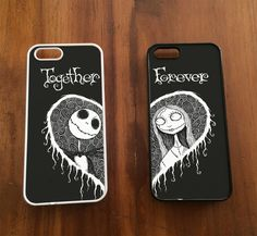 Jack and Sally Together Forever Couple Cases | iPhone 4/4S, iPhone 5/5S/5C, iPhone 6 + 6 Plus Case - SCRYL