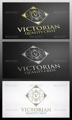 Victorian Logo Template — Vector EPS #elegant #luxury brand • Available here → https://graphicriver.net/item/victorian-logo-template/6301819?ref=pxcr