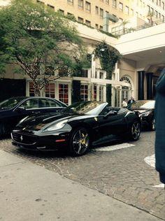 Ferrari 🚗 ❤ ☺  ☻ ✿ Ferrari California, Smart Car, Car In The World, Car Ins, Lamborghini, Automobile, Super Cars, Black, Cars