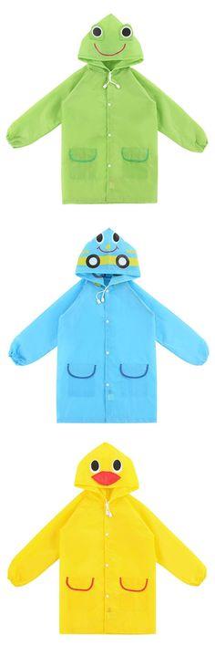 [Visit to Buy] 1 PC Free Shipping Kids Rain Coat Children Raincoat Rainwear/Rainsuit,Kids Waterproof Animal Raincoat #Advertisement
