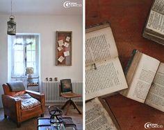 Un idea: esporre libri antichi aperti dentro una bacheca per creare un quadro