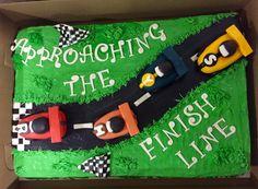 Race car baby shower cake!