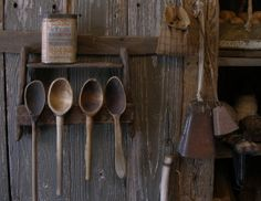 Primitive wood spoon rack for your early spoons!!!IMO. Any color paint!!! Newly made from new rough sawn wood. Rusty wire hangers for your spoons. Square headed nails. Small shelf above for adding smalls. Measures 8 inches tall by 10 1/4 wide at base. 2 1/8 deep not including wire spoon loops. Very primitive!!!! $42 plus shipping