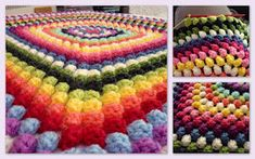 Granny Bobble Blanket: free pattern