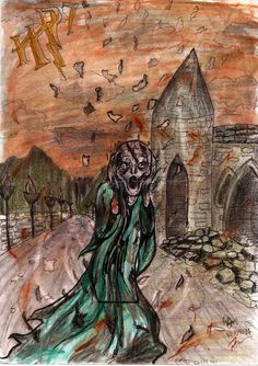 Certain people on the Internet seem to be under the impression that Harry Potter villain Lord Voldemort is based on Munch's Scream. The theory is popular enough that it even has its own fan art.