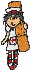 Concord Collections Embroidery Design: Nurse Band-Aid 3.49 inches H x 0.78 inches W