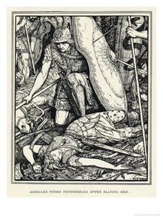 henry justice ford | henry-justice-ford-achilles-pities-penthesilea-after-slaying-her