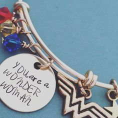 LIMITED GOLD EDITION - Wonder Woman: You are a Wonder Woman Bracelet - great for Mother's Day by DustLily on Etsy