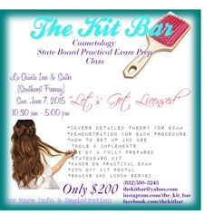 Cosmetology State Board Practical Exam Prep Class