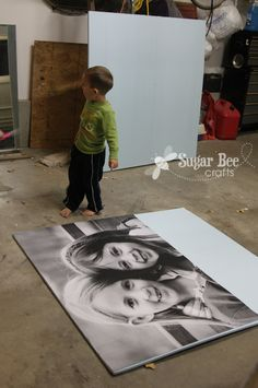 Cheapest and Easiest Raised Enlarged Photo Ever! {no Modpodge}