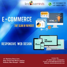 #E-COMMERCE(START SELLING ON YOUR WEBSITE): #RESPONSIVE #WEB #DESIGN. Visit Us at: www.kre8iveminds.com Or Call Us at: +91 9903118211