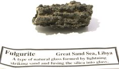 Fulgurite from the Sahara. Fulgurite, Desert Glass, Natural Gemstones, Gemstone Jewelry, Deserts, Collection, Desserts, Postres, Dessert
