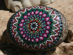 Hand Painted Grinding Stone Mandala by HiddenHorseRocks on Etsy