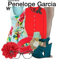 Inspired by Kirsten Vangsness as Penelope Garcia on Criminal Minds Fashion Souls, Fashion Tv, Tom Ford Clothing, Beautiful Outfits, Cool Outfits, Kirsten Vangsness, Penelope Garcia, Quirky Fashion, Fandom Outfits