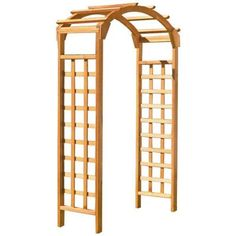 Natural Arch 84 X 48 In. Outside Wooden Garden Arbor