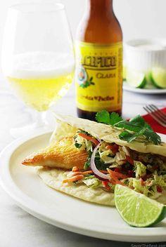 Tex-Mex fish tacos w