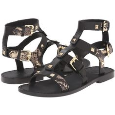 ASH Morocco (Black/Roccia/Brasil Leather/Whisp) Women's Sandals (440 BRL) ❤ liked on Polyvore featuring shoes, sandals, black, leather upper shoes, open toe shoes, black open toe shoes, ash sandals and black leather shoes