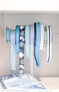 I would keep these cool blue ribbons close by for those summer birthdays that I'd be attending! #indigo #perfectsummer