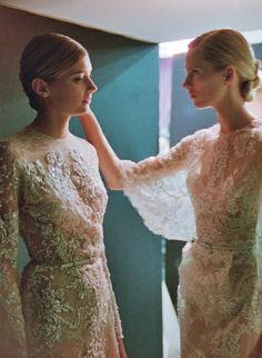 Sigrid and Daria at Elie Saab Haute Couture F/W 2013/14