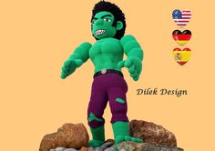 CROCHET PATTERN  Amigurumi HULK  Giant  the por DilekDesign en Etsy