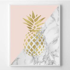 Pineapple print Modern print Fashion art Chanel от WallArt2Decor