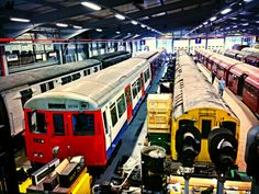 A Stock and Standard Stock tube trains, London Transport Museum Depot, Acton