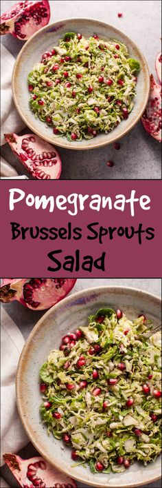 My pomegranate Brussels sprouts salad is a healthy, colorful, delicious, and easy to make fall side dish. A perfect addition to your Thanksgiving table!