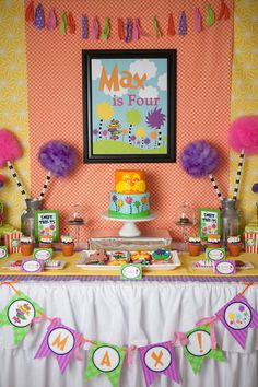 Lorax Party  Dr. Seuss Birthday Party  by LillianHopeDesigns, $35.00. LOVE!