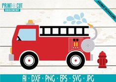 Drawing For Kids, Painting For Kids, Firetruck Coloring Page, Fire Truck Drawing, Fire Truck Room, Quiet Book Templates, Cricut, Truck Paint, Baby Shower