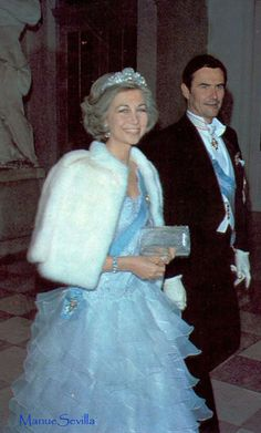 cotilleando:  Queen Sofia of Spain and Prince Henrik of Denmark, March, 1980