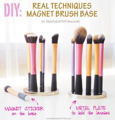 DIY: Real Techniques Magnet Brush Base - detailed instructions on how to create this super chic magnet brush base is now on my site!!  Beauty Point Of View