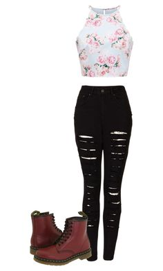 """Untitled #468"" by kylethevampire on Polyvore featuring The Ragged Priest, Forever New and Dr. Martens"
